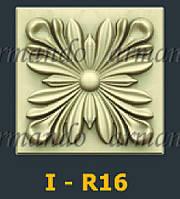 Деревянная Резная Розетка  I - R16