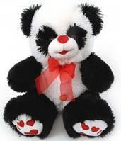 Мягкая игрушка Панда музыкальная с красным бантом 50 см