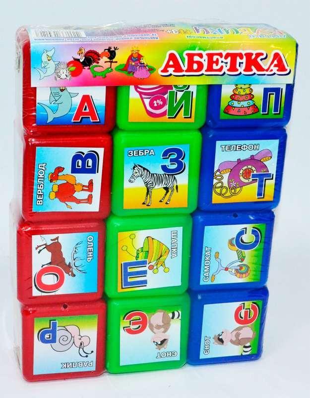 """Гр Кубики """"Абетка 12 шт"""" укр. 06042 (24) """"M-TOYS"""""""