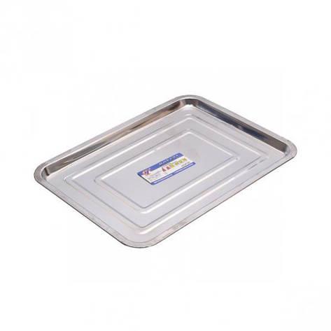 Поднос металлический прямоугольный средний 35*26*1,5см, фото 2
