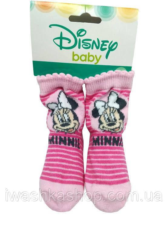 Стильные носки в полоску с Минни Маус на девочек 0 - 6 месяцев, Disney baby