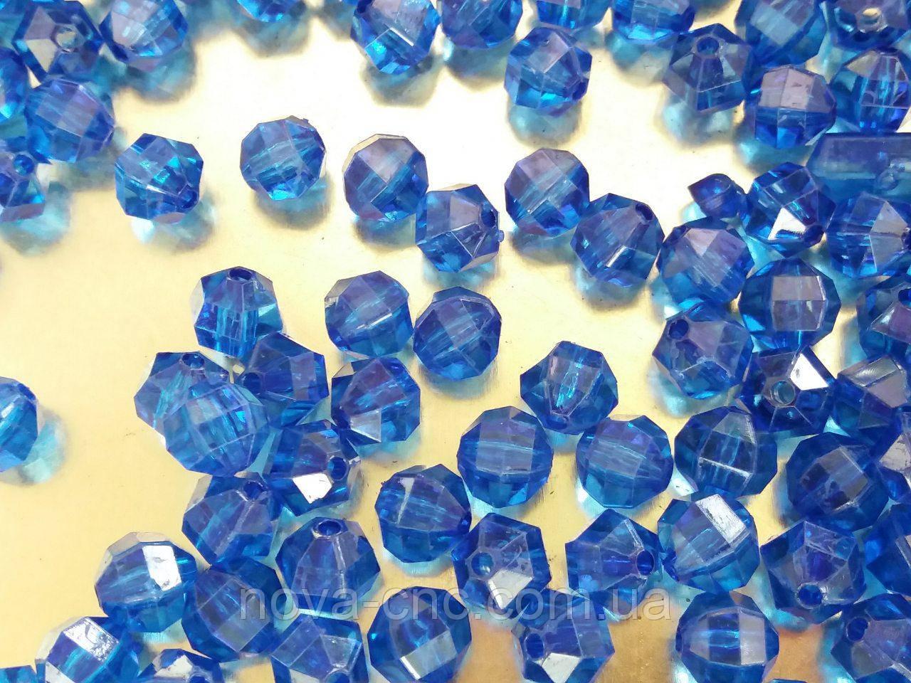 """Намистини """"Гранатик"""" синій 8 мм 500 грам"""