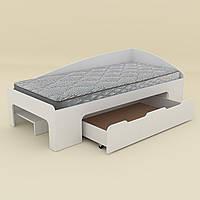 Одноместная кровать Компанит 90+1, с выкатным ящиком,  дсп, фото 1