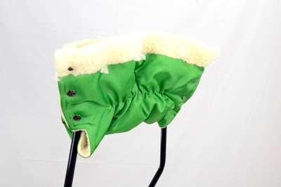 Гр Муфта к санкам 176 (1) на овчине - цвет зеленый