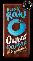 Шоколад сирої органічний з кокосовим молоком, 35 грам, Ombar
