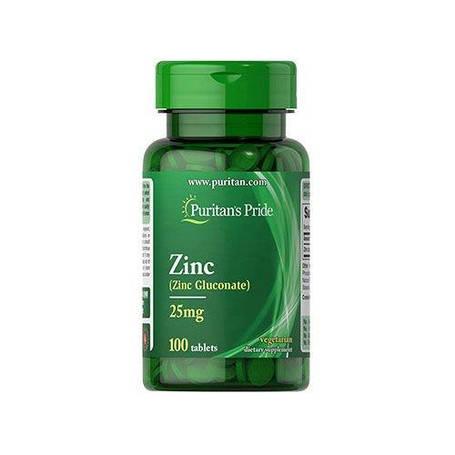 Цинк Zinc Puritans Pride 50 mg 100 caps, фото 2