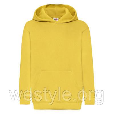 Толстовка на флисе с двойным капюшоном детская - 62043-34 желтая
