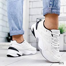 """Кросівки жіночі """"Lakes"""" білого кольору з еко шкіри. Кеди жіночі. Мокасини жіночі. Взуття жіноче, фото 2"""