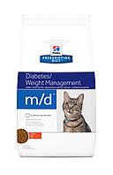Hill's Prescription Diet m/d Diabetes/Weight Management корм для кошек с курицей