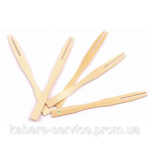 Шпажка-вилочка (бамбук) 9 см 100 шт