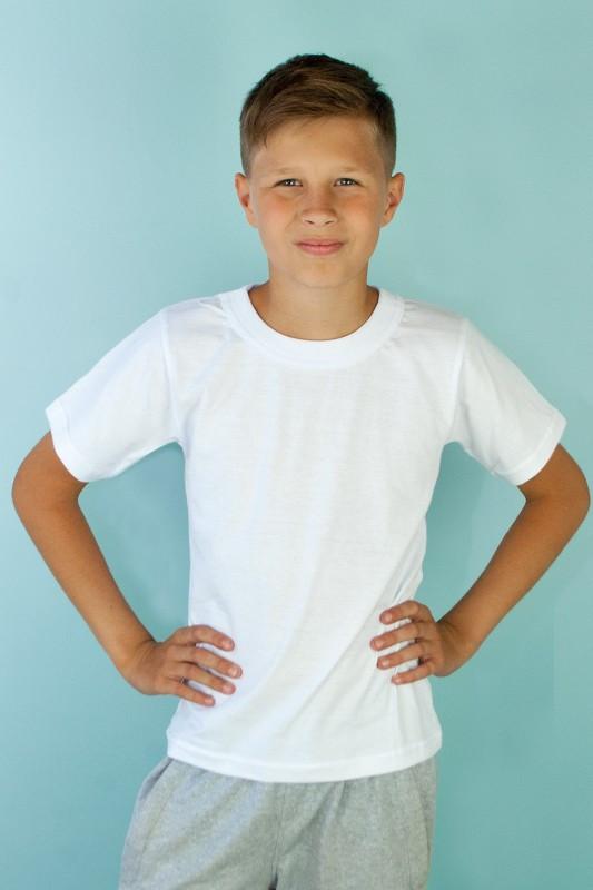 Белая подростковая футболка