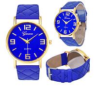 Наручные  кварцевые синие женские часы Geneva
