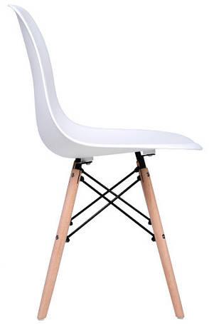 Стул Жаклин (пластиковый Белый с деревянными ногами), фото 2