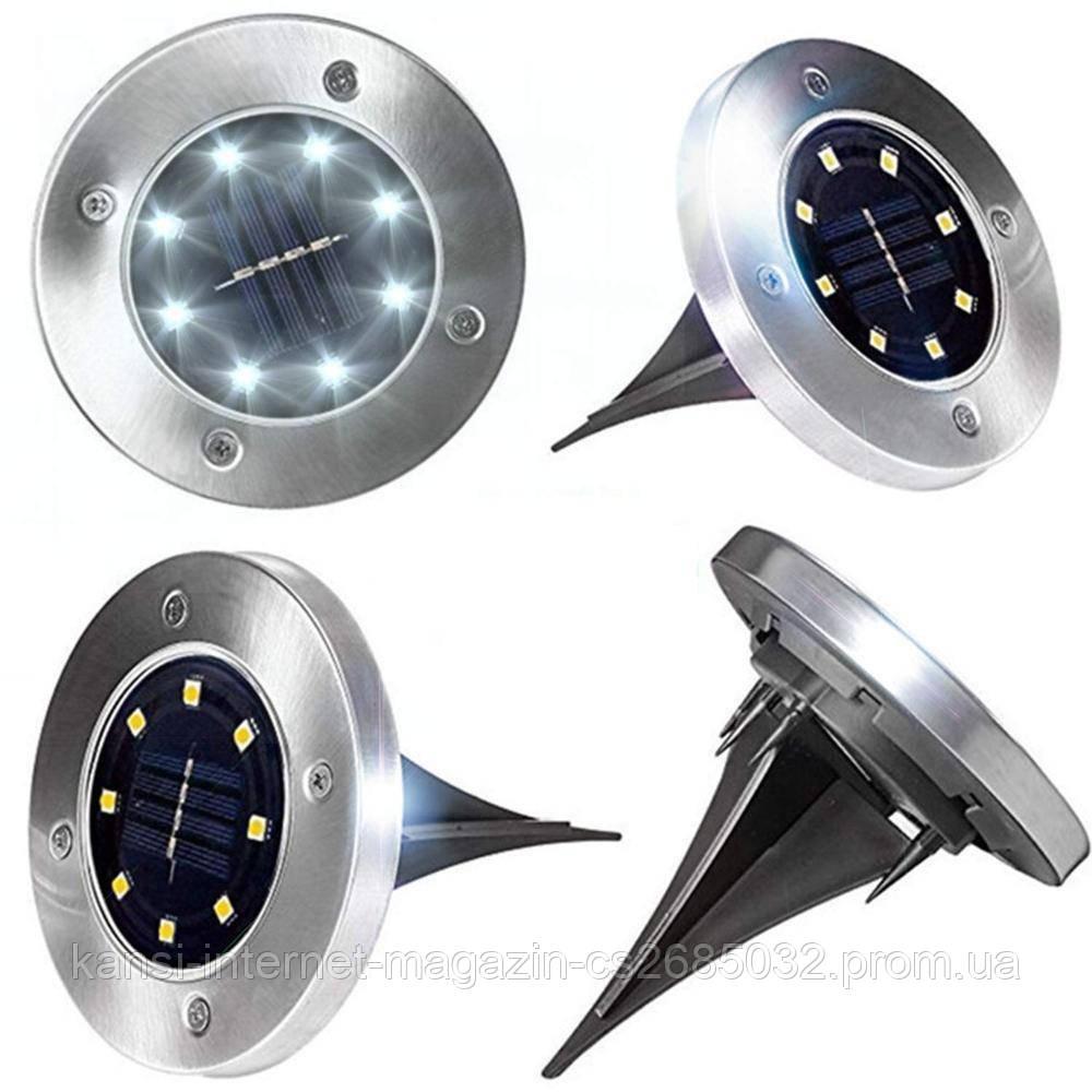 Светильник на солнечной батарее Solar Disk Lights комплект 4 шт