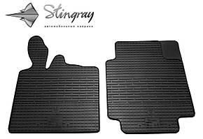 Smart Fortwo II 2007- Комплект из 2-х ковриков Черный в салон