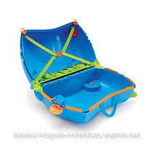 Детский чемодан Trunki Terrance Транки голубой, фото 2