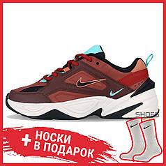 Мужские кроссовки Nike M2K Tekno Mahogany Mink/Black-Burnt Orange AO3108 200, Найк М2К Текно