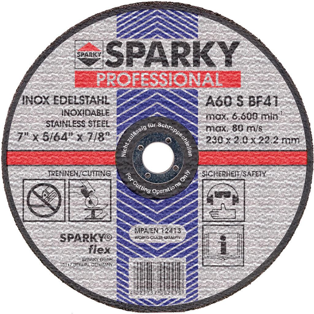 Отрезной диск по нержавеющей стали Sparky 125х1.6 мм (20009562000)