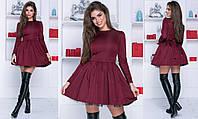 Платье беби долл - Бордовый