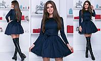 Платье беби долл - Темно-синий, фото 1