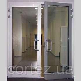 Алюмінієві протипожежні сертифіковані двері з класом вогнестійкості EI30