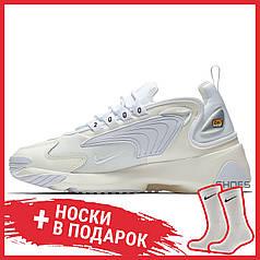 Мужские кроссовки Nike Zoom 2K Sail/White-Black AO0269-100, Найк Зум 2К