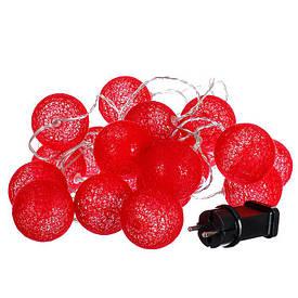 """Гирлянда """"Красные шарики-фонарики"""" 20шт. 001NL-20R"""