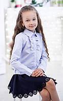 Блуза Світ блуз мод.2042 блакитна р. 152