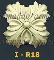 Деревянная Резная Розетка  I - R18