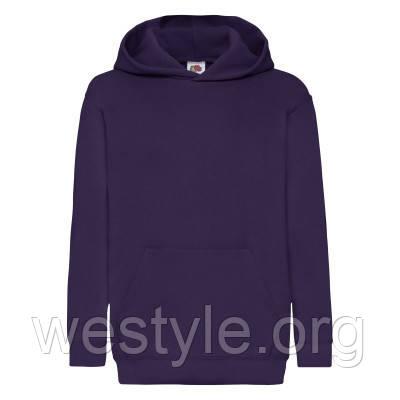 Толстовка на флисе с двойным капюшоном детская - 62043-PE фиолетовая