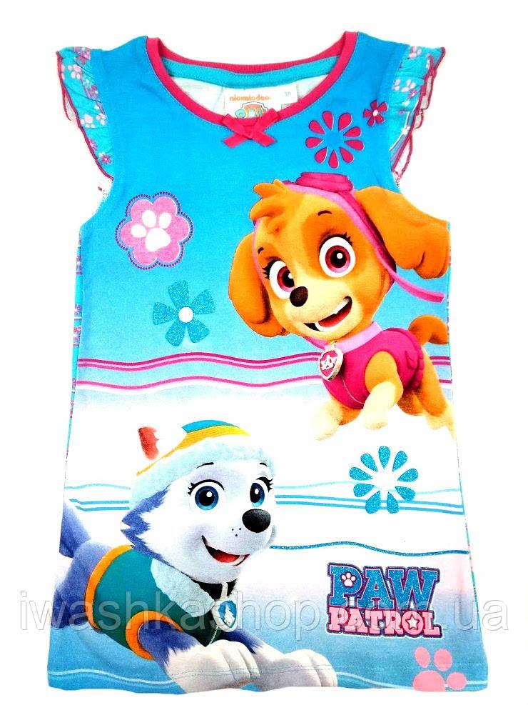 Яркая ночная рубашка Щенячий патруль на девочек 3 лет, р. 98, Paw Patrol, Nickelodeon