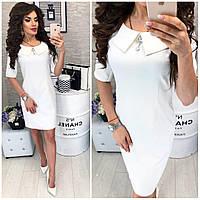 Платье, модель 811  темно белое
