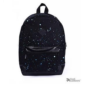 Рюкзак Городской 4Elements, Черный, Молодежный для ноутбука, учебы, спорта Взрослый (подростковый) , фото 2