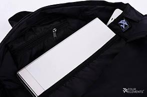 Рюкзак Городской 4Elements, Черный, Молодежный для ноутбука, учебы, спорта Взрослый (подростковый) , фото 3