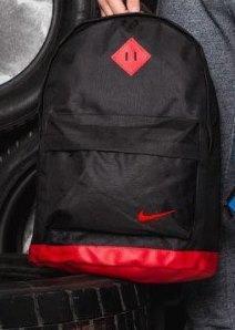 Спортивный рюкзак  Молодежный для ноутбука, учебы, Взрослый (подростковый черный с оранжевый