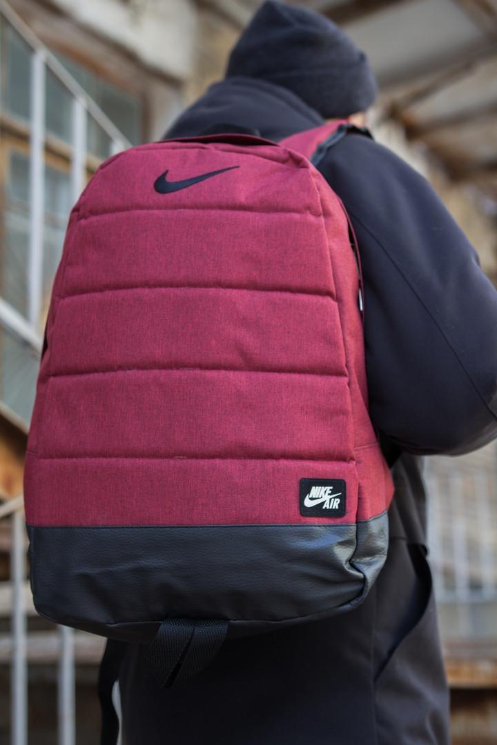 Рюкзак  Nike Городской, Спортивный, для учебы, под Ноутбук (реплика) Взрослый (подростковый) БОРДОВЫЙ