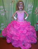 Пышное платье Облачко ЯРКО-РОЗОВОЕ на 4-5, 6-7, 8-9 лет, фото 3