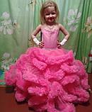 Пышное платье Облачко ЯРКО-РОЗОВОЕ на 4-5, 6-7, 8-9 лет, фото 4