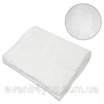Полотенце одноразовое нарезное AQUA Absorb 40х70 см (50 шт) Белое Гладкое Влаговпитывающее