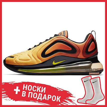 Мужские кроссовки Nike Air Max 720 Sunrise AO2924-800, Найк Аир Макс 720, фото 2