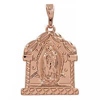 Подвеска Ладанка Иконка Богородица 2,2 см (Медицинское золото)