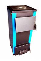 Котел твердотопливный Огонек Котв - 25 Пв кВт (с плитой и водонагревательным контуром)