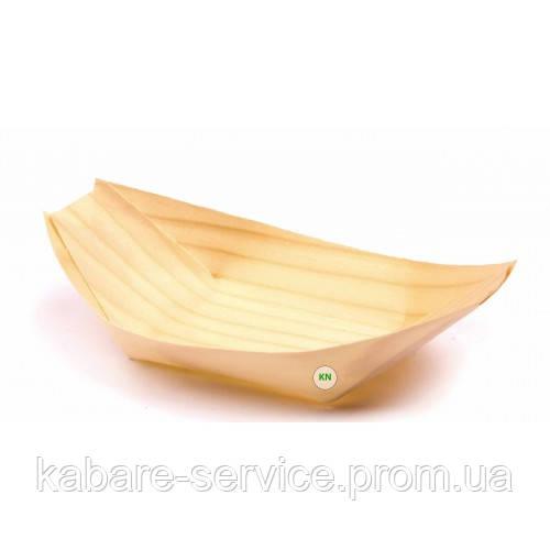 Тарелка-лодочка (бамбук) 190*100*15 мм 100 шт