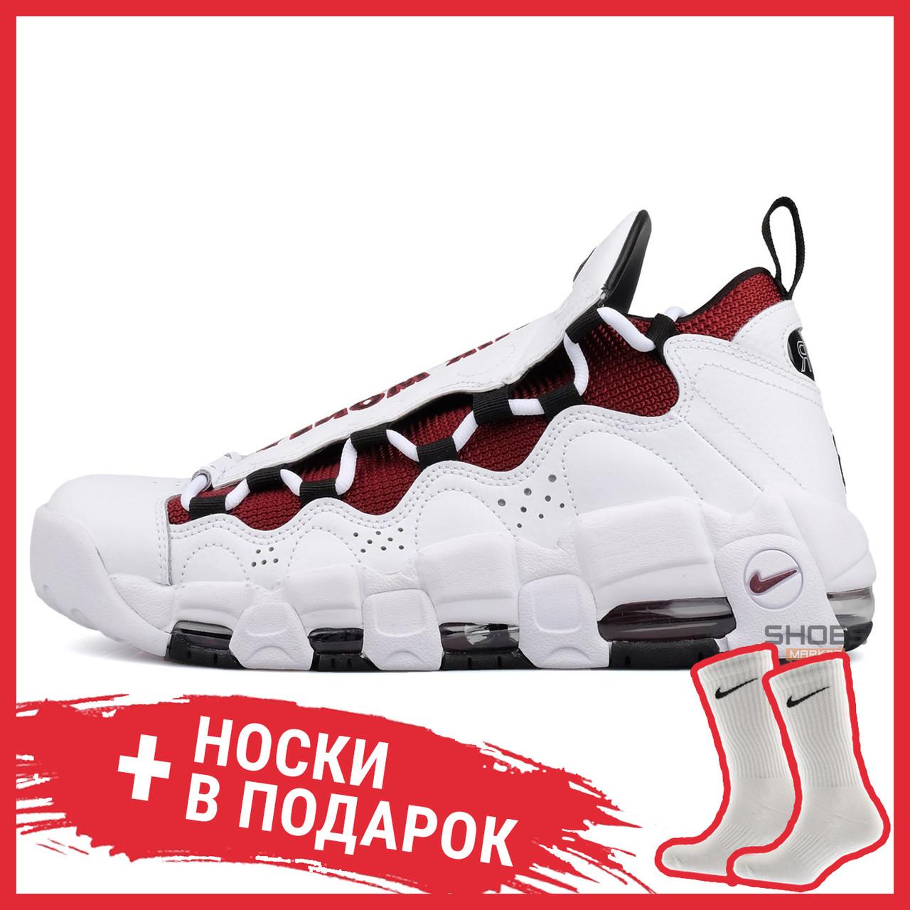 Мужские кроссовки Nike Air More Money White/Black - Team Red aj2998 100, Найк Аир Мор