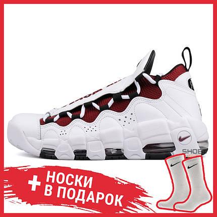 Мужские кроссовки Nike Air More Money White/Black - Team Red aj2998 100, Найк Аир Мор, фото 2