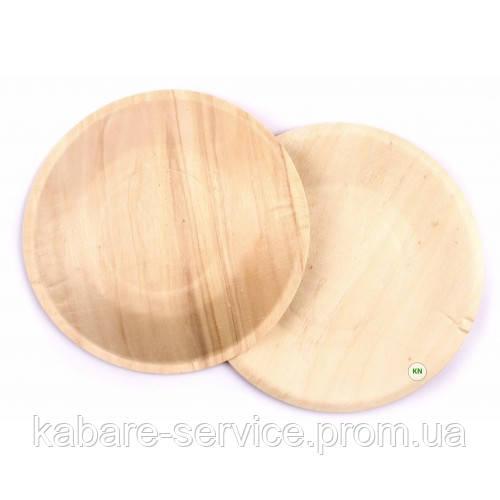 Тарелка одноразовая деревянная (круглая)13 см 100 шт
