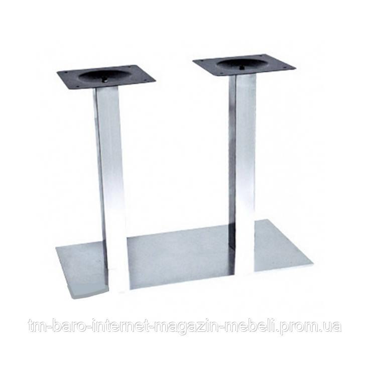 Опора для стола двойная Днестр нержавейка, h72 см, 40х70 см