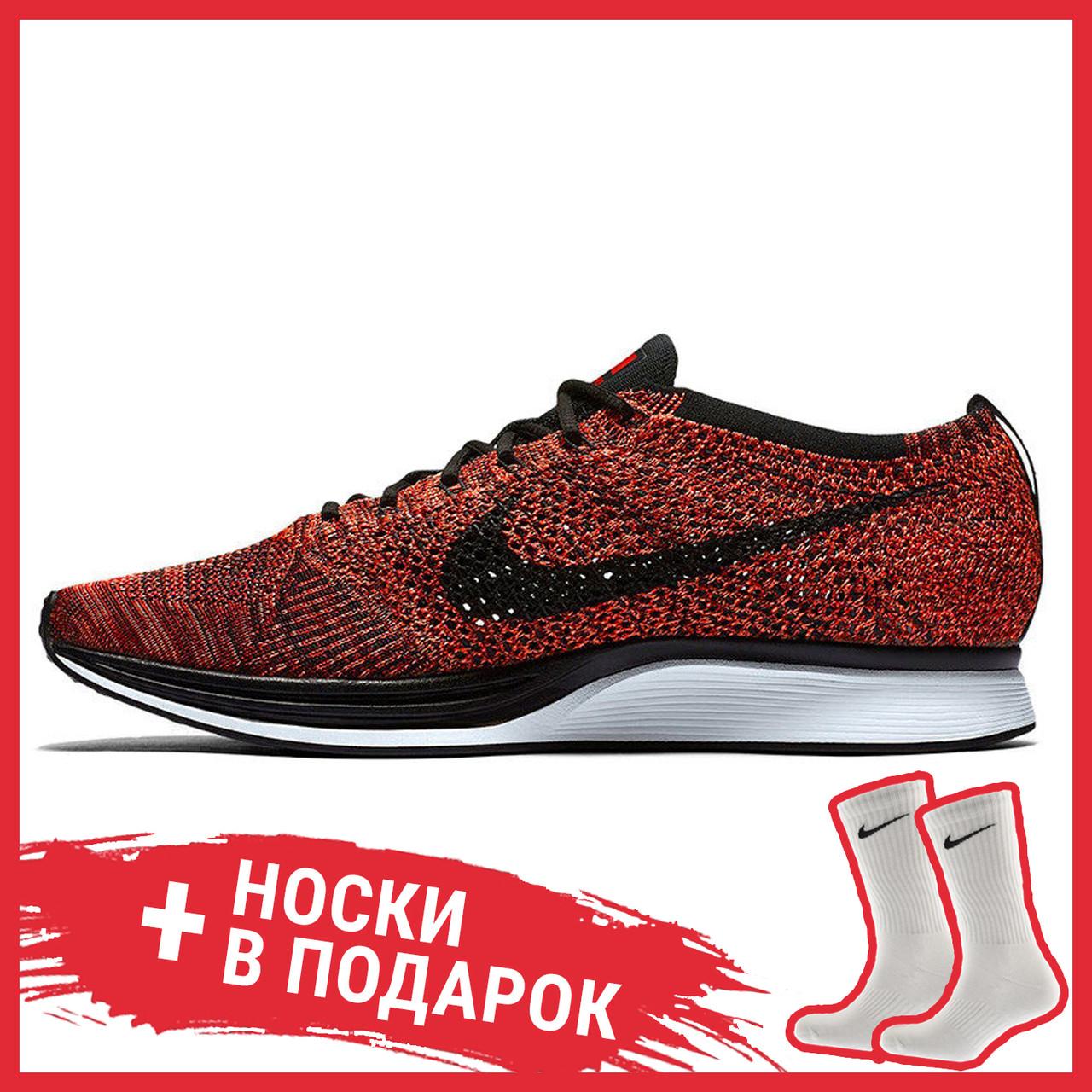 Мужские кроссовки Nike Flyknit Racer University Red 526628-608, Найк Флайнит