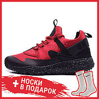 "Мужские кроссовки Nike Air Huarache Utility ""Gym Red Black"" 806807 600, Найк Аир Хуарачи"
