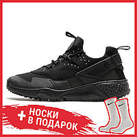 Мужские кроссовки Nike Air Huarache Utility Black 806807-002, Найк Аир Хуарачи